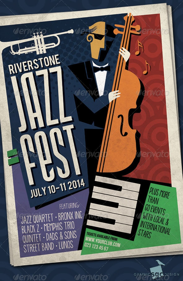 Abstract Jazz Poster - Concerts Events