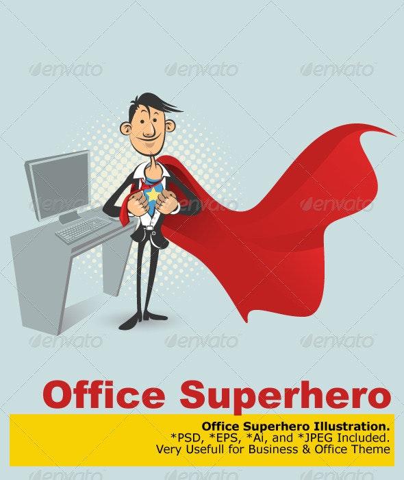 Office Superhero - Characters Vectors