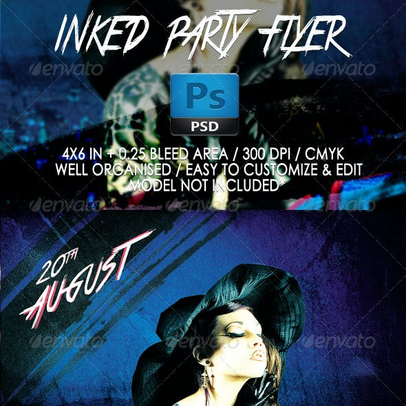 Inked Party Flyer Template