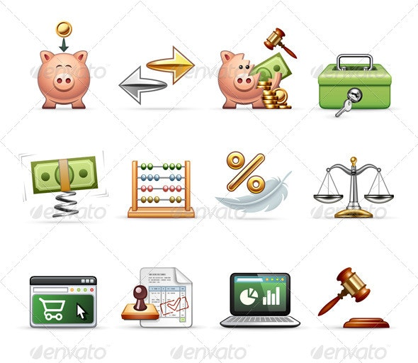 Finance, Business and Savings  - Business Icons