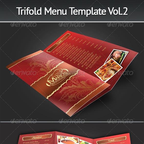 Trifold Menu Template Vol.2