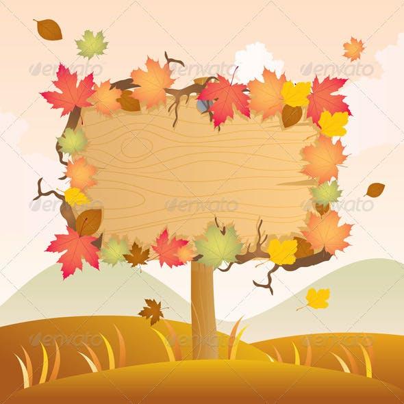 Autumn Wood Signage