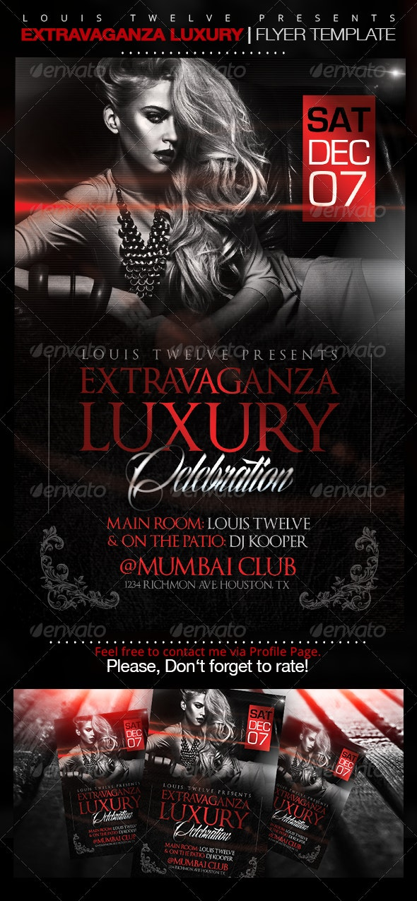 Extravaganza Luxury Party | Flyer Template - Clubs & Parties Events