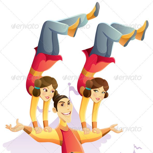 Circus Acrobatic Hand Standing