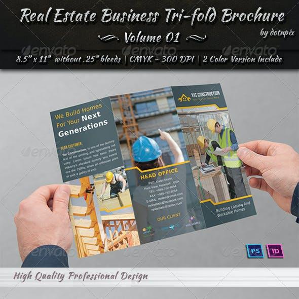 Download Real Estate Business Tri-fold Brochure | Volume 1