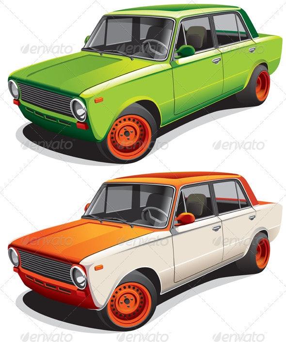 Drag Car No4 - Objects Vectors