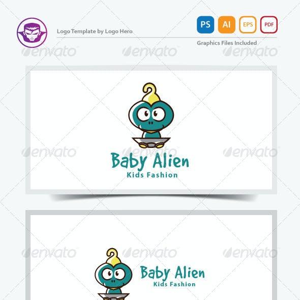 Baby Alien Logo Template