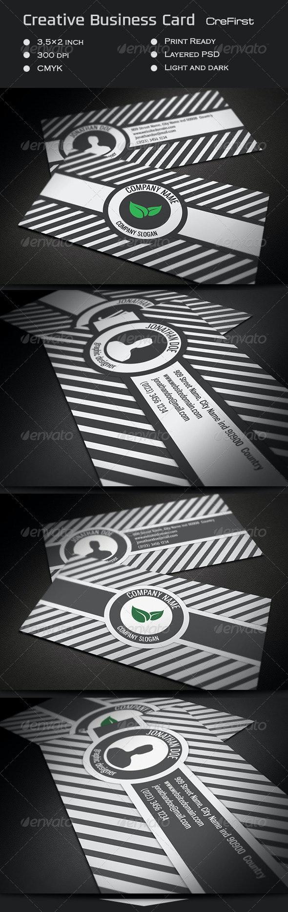 Creative Business Card CreFirst - Creative Business Cards