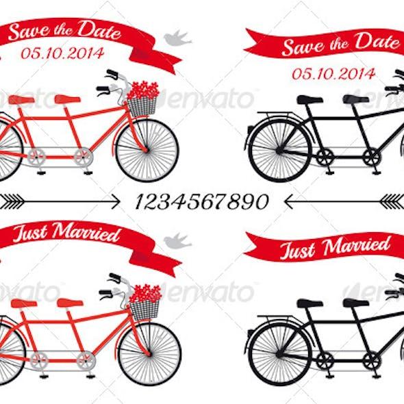 Wedding Tandem Bicycles