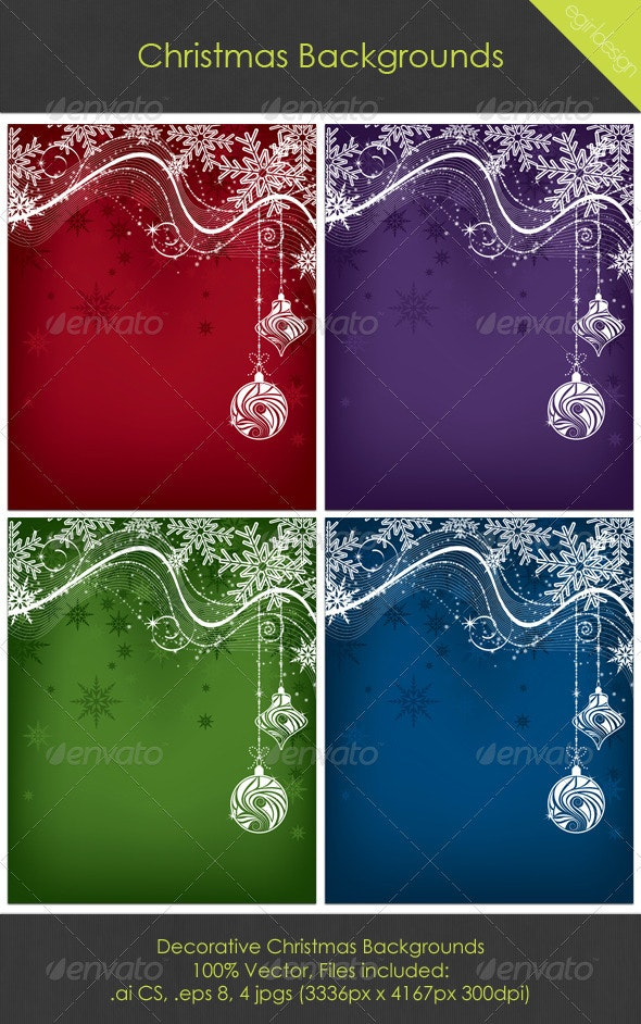 Christmas Backgrounds - Christmas Seasons/Holidays