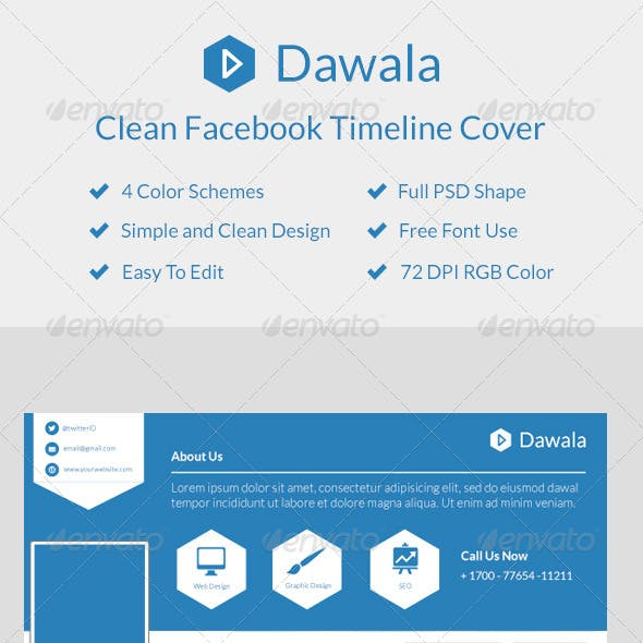 Dawala Clean Facebook Timeline Cover