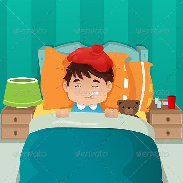 Sick Kid Resting
