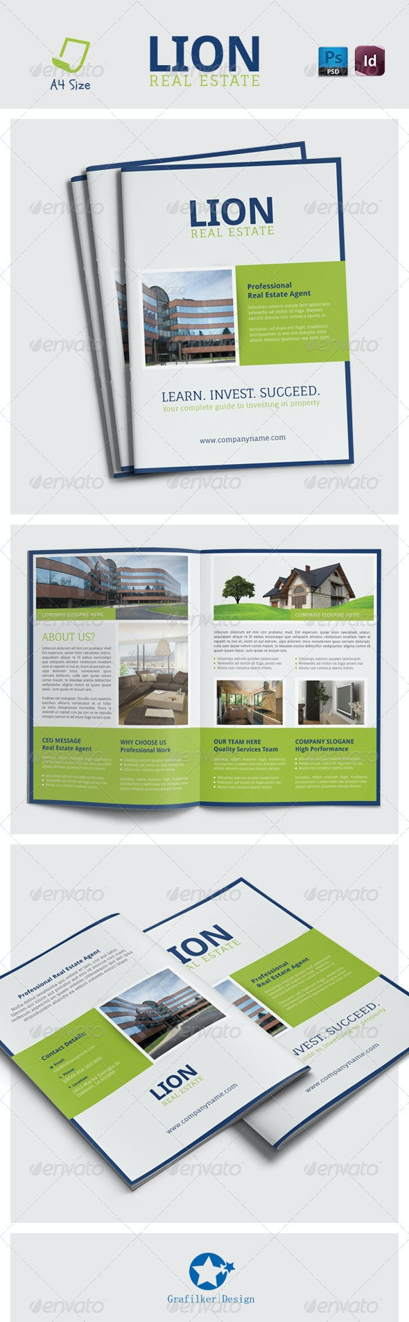 Real Estate Brochure Templates by grafilker   GraphicRiver