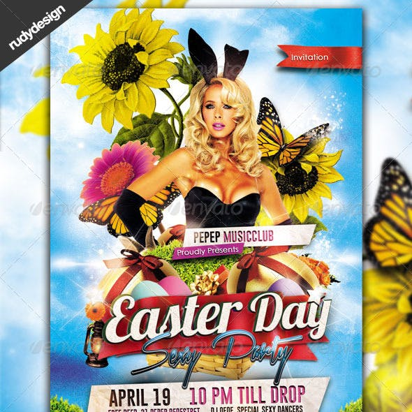 Easter Party Flyer Design