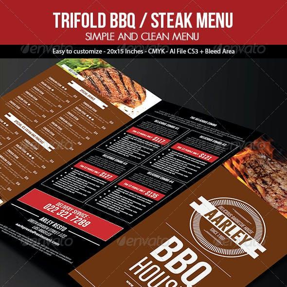 Trifold BBQ / Steak Menu + Business Card