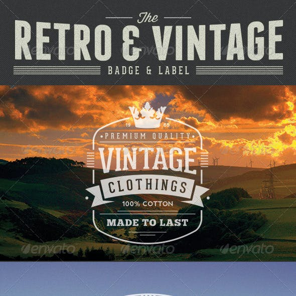 Retro Vintage Badge & Label