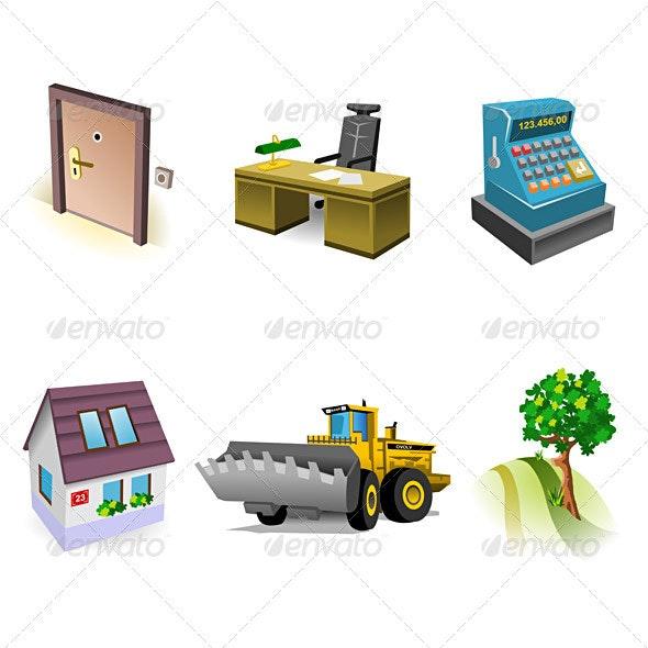 Real Estate Icon Set - Business Conceptual