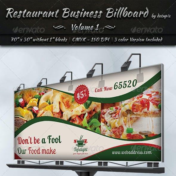 Restaurant Business Billboard | Volume 1