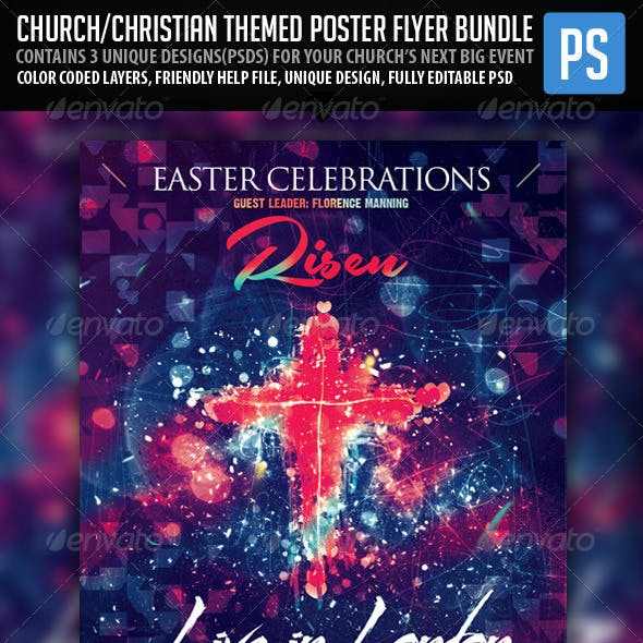 Church/Christian Themed Poster/Flyer BUNDLE PACK