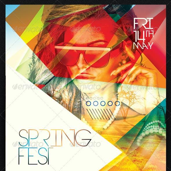 Spring Fest Flyer Template PSD