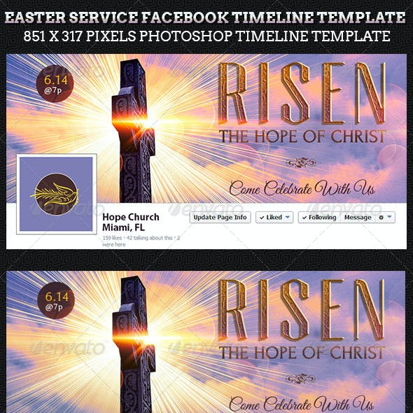 Easter Service Facebook Timeline Cover Template