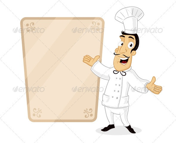 Chefs Menu - People Characters
