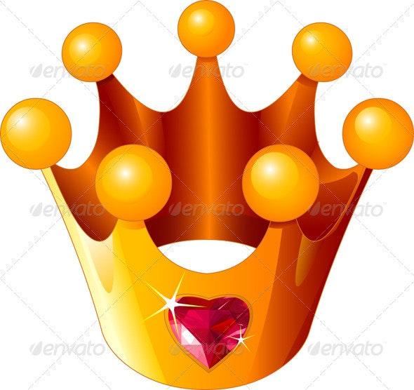 Love Princess crown - Decorative Symbols Decorative