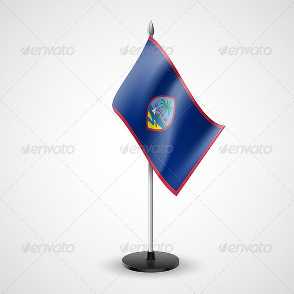 Table Flag of Guam