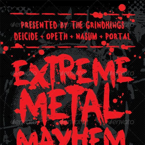 Mayhem - Heavy Metal Flyer Template
