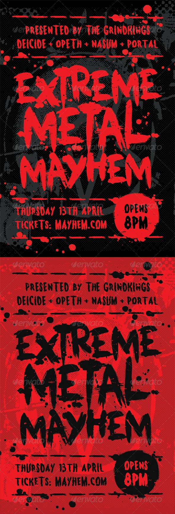 Mayhem - Heavy Metal Flyer Template - Concerts Events