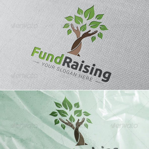 Fund Raising Logo Template