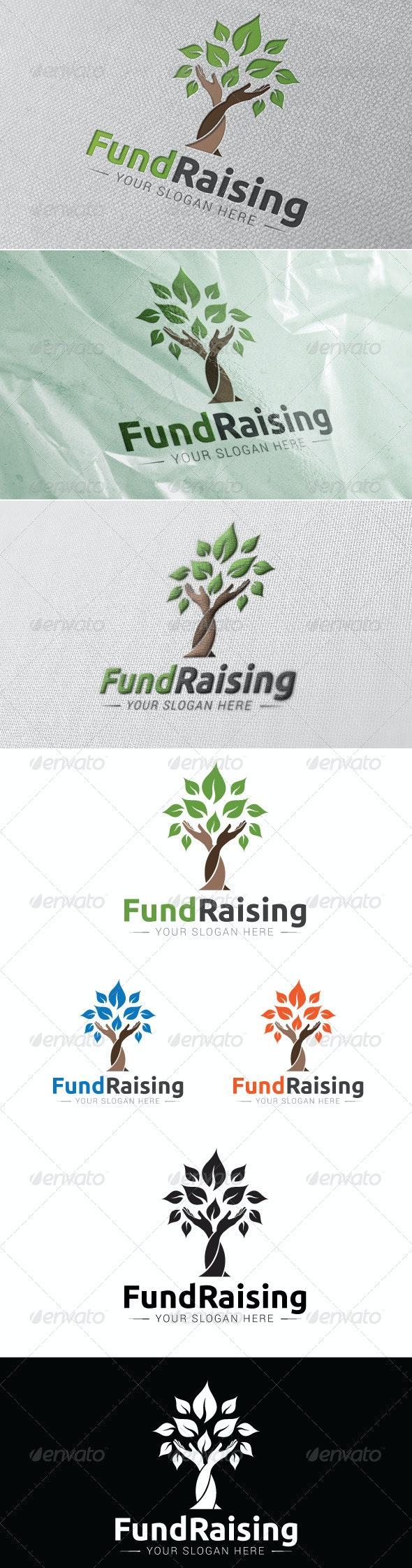 Fund Raising Logo Template - Humans Logo Templates