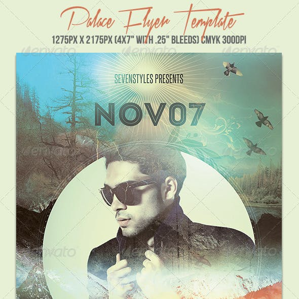 Palace Flyer Template