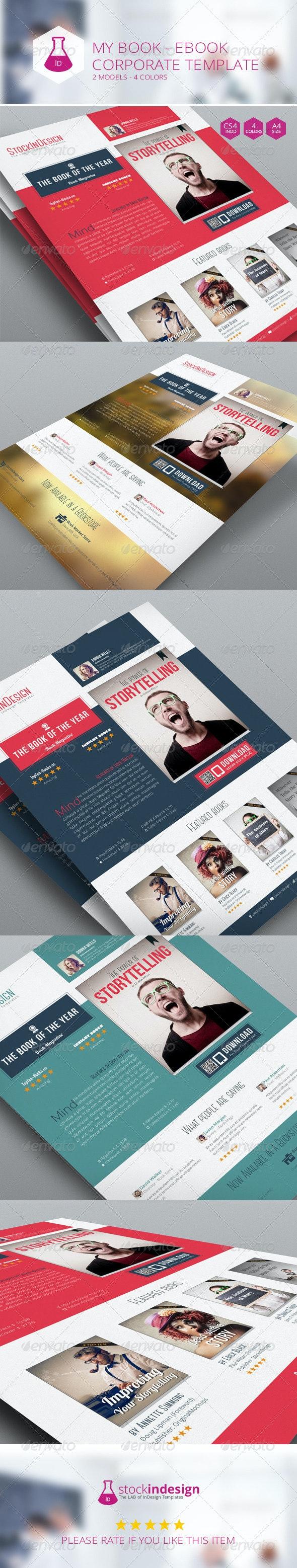 My Book Ebook Promotion - Flat Design - Corporate Flyers