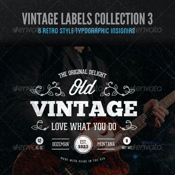 Vintage Labels and Logos Collection 3