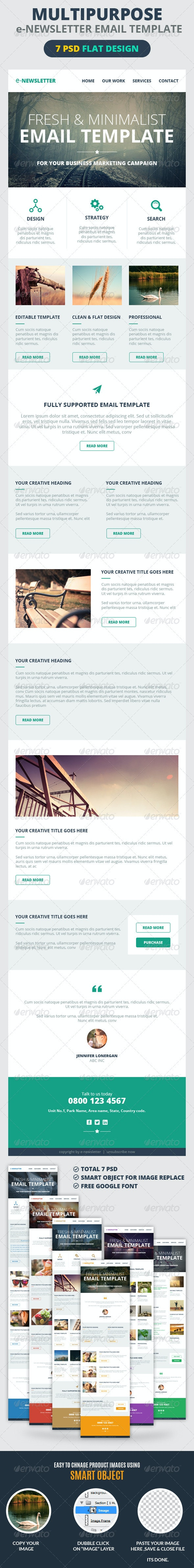 Multipurpose E-Newsletter Email Template