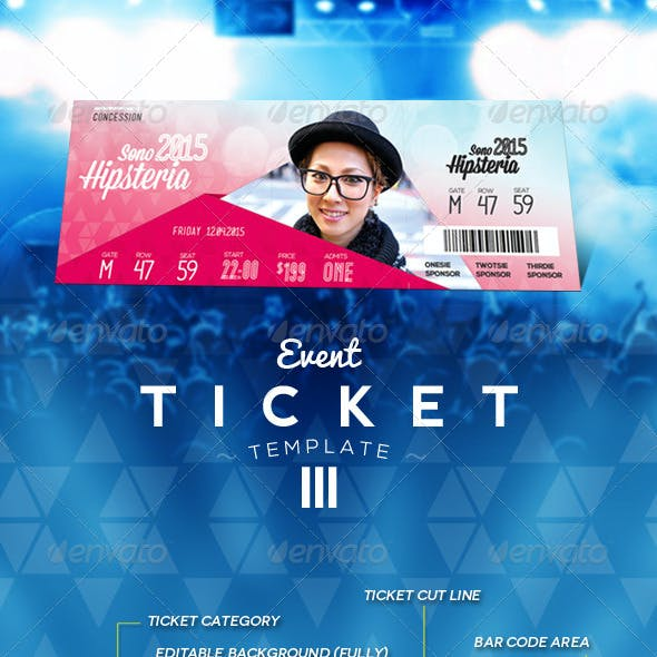 Event Ticket Template III