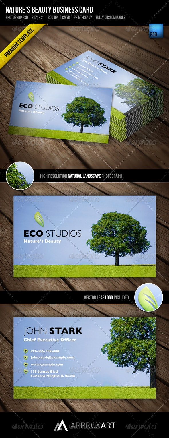 Nature's Beauty Business Card - Creative Business Cards