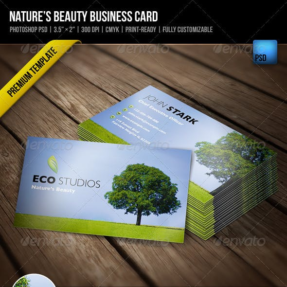 Nature's Beauty Business Card