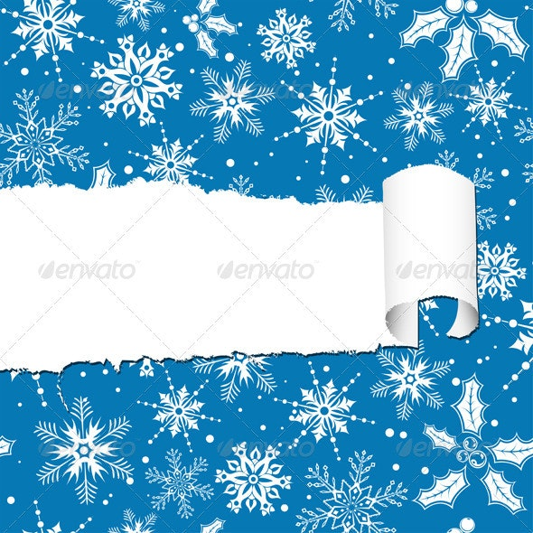 Torn Christmas Paper - Christmas Seasons/Holidays