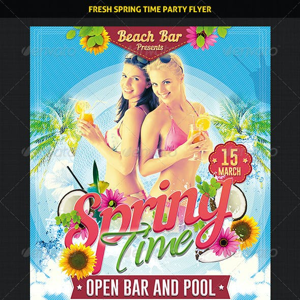 Fresh Spring Time Party Flyer
