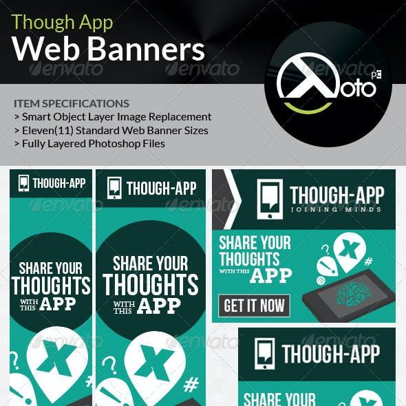 Though App Idea Cloud Web Banners