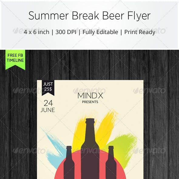 Summer Break Beer Flyer