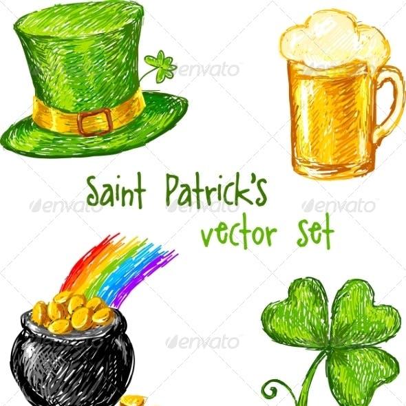 Sketch Saint Patrick Day Set