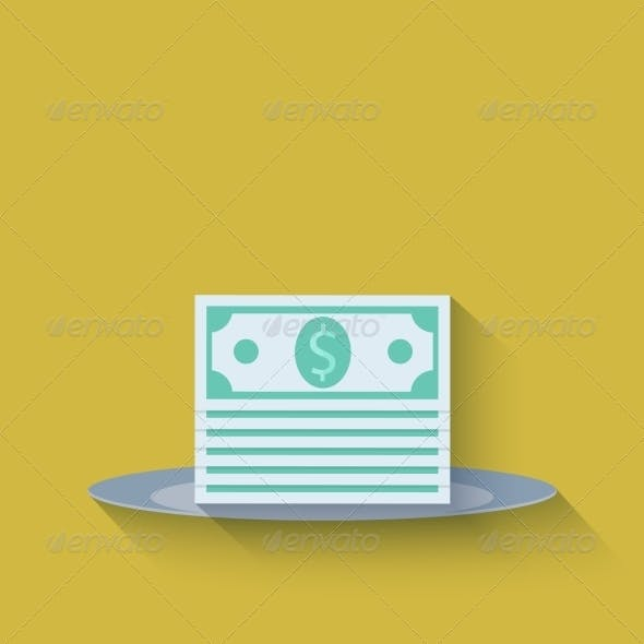 Modern Flat Money Background