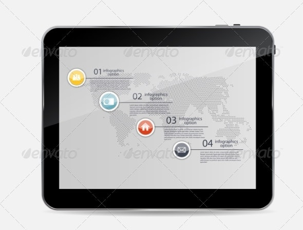 Abstract Design Tablet. Vector Illustration. - Computers Technology