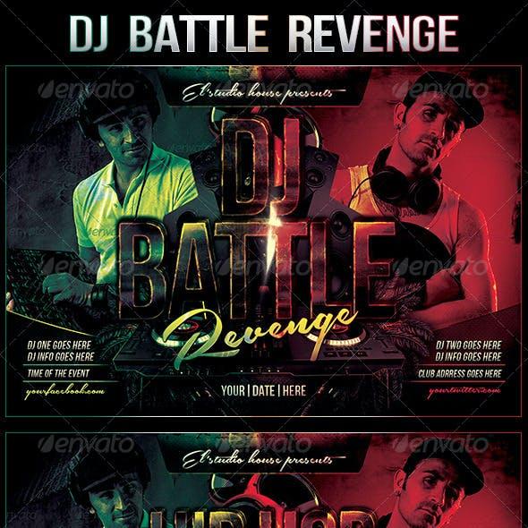 Dj Battle Revenge Rave Flyer