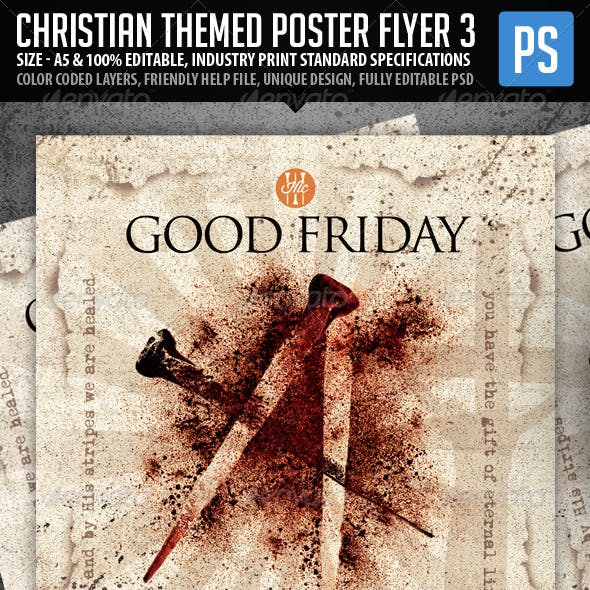 Church/Christian Themed Poster/Flyer Vol.3