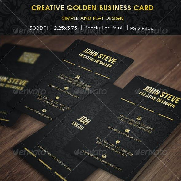 Creative Golden Business Card
