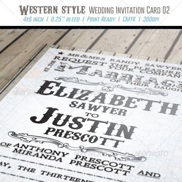 Western Style Wedding Invitation Card 02